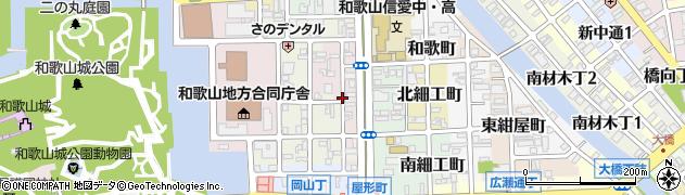 和歌山県和歌山市四番丁周辺の地図