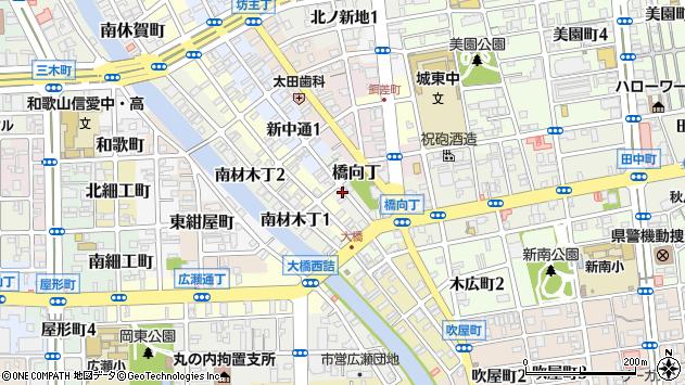 〒640-8334 和歌山県和歌山市茶屋町の地図