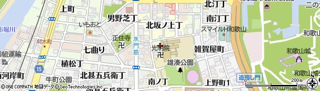 和歌山県和歌山市東坂ノ上丁周辺の地図