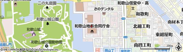 和歌山県和歌山市二番丁周辺の地図
