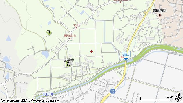 〒640-0402 和歌山県紀の川市貴志川町北山の地図