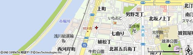 和歌山県和歌山市材木丁周辺の地図