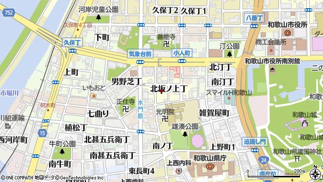 〒640-8233 和歌山県和歌山市北坂ノ上丁の地図
