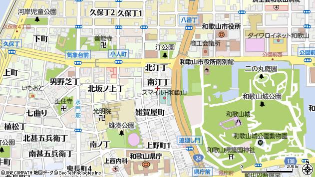 〒640-8232 和歌山県和歌山市南汀丁の地図