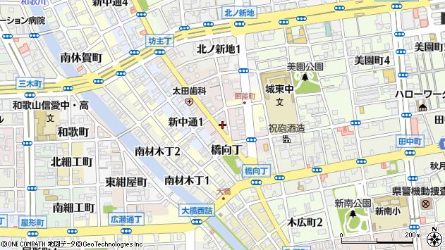 〒640-8335 和歌山県和歌山市餌差町の地図