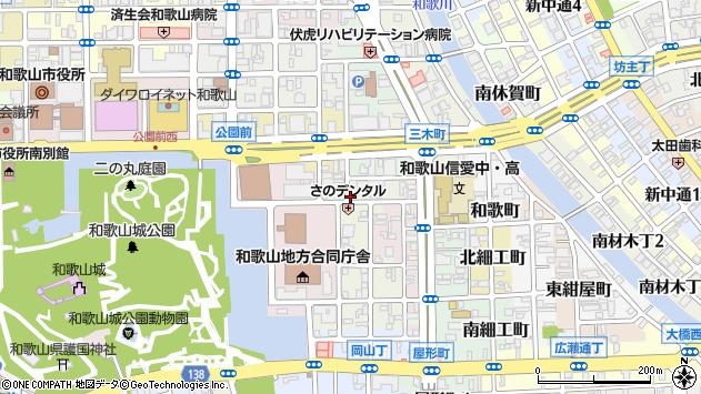 〒640-8141 和歌山県和歌山市五番丁の地図