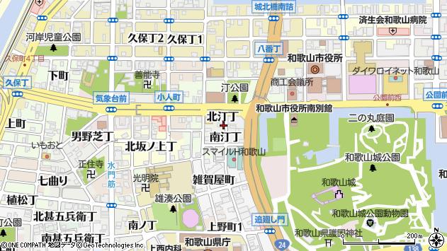 〒640-8231 和歌山県和歌山市北汀丁の地図