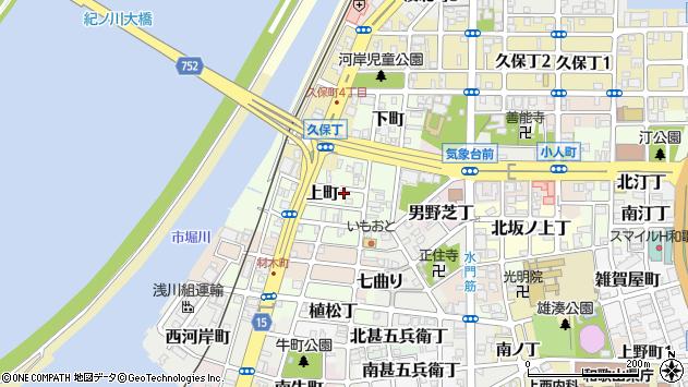 〒640-8239 和歌山県和歌山市上町の地図