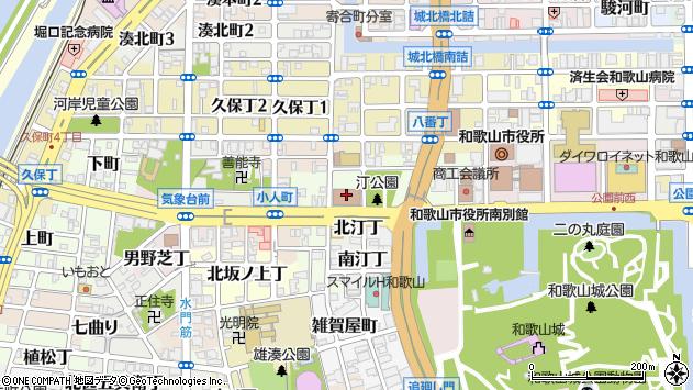 〒640-8227 和歌山県和歌山市西汀丁の地図
