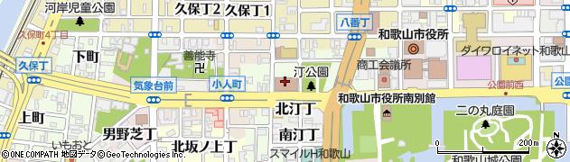 和歌山県和歌山市西汀丁周辺の地図