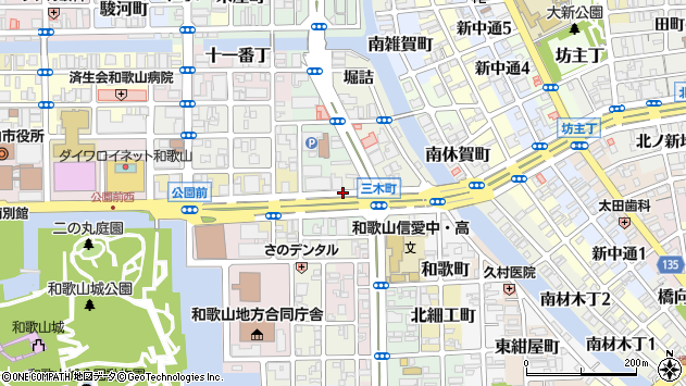 〒640-8153 和歌山県和歌山市三木町台所町の地図
