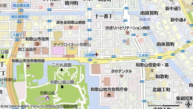 〒640-8154 和歌山県和歌山市六番丁の地図