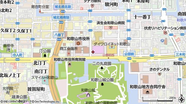 〒640-8156 和歌山県和歌山市七番丁の地図