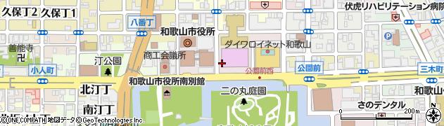 和歌山県和歌山市七番丁周辺の地図
