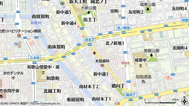 〒640-8337 和歌山県和歌山市毛革屋丁の地図