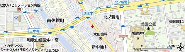 和歌山県和歌山市毛革屋丁周辺の地図