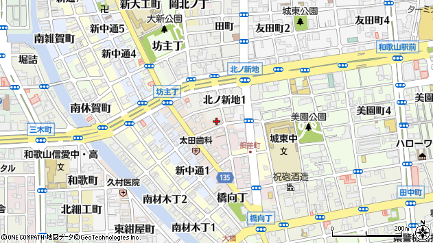 〒640-8336 和歌山県和歌山市柳丁の地図