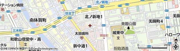 和歌山県和歌山市柳丁周辺の地図