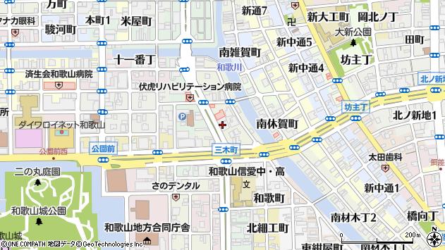 〒640-8106 和歌山県和歌山市三木町中ノ丁の地図