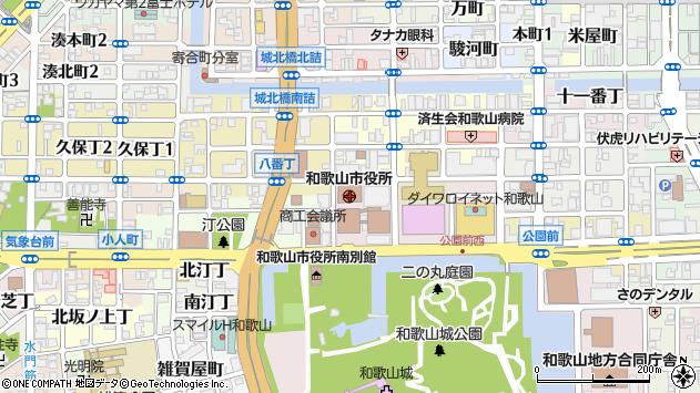 〒640-0000 和歌山県和歌山市(以下に掲載がない場合)の地図