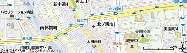 和歌山県和歌山市北ノ新地(上六軒丁)周辺の地図
