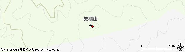 矢櫃山周辺の地図