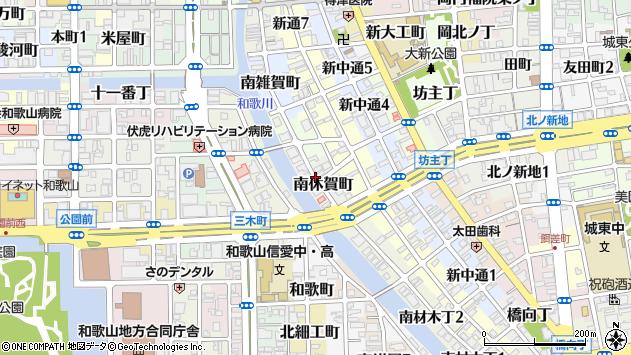 〒640-8104 和歌山県和歌山市南休賀町の地図