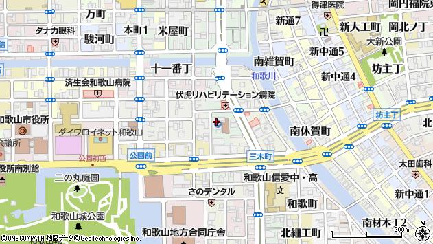〒640-8151 和歌山県和歌山市屋形町の地図
