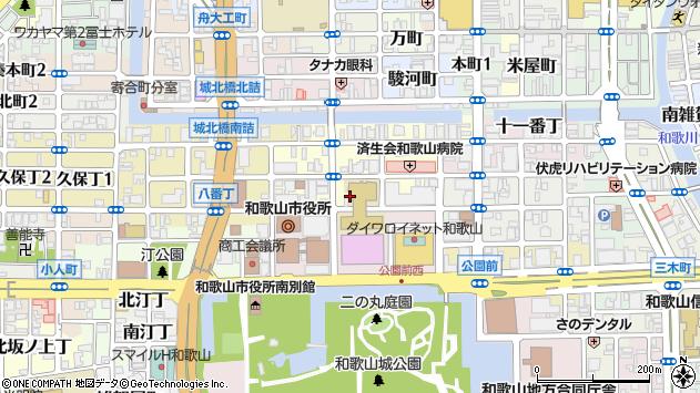 〒640-8155 和歌山県和歌山市九番丁の地図