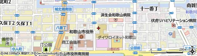 和歌山県和歌山市九番丁周辺の地図