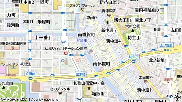 〒640-8103 和歌山県和歌山市北休賀町の地図
