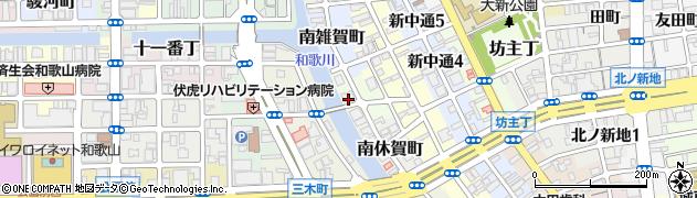 和歌山県和歌山市北休賀町周辺の地図