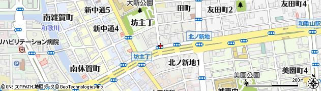 和歌山県和歌山市北ノ新地(中六軒丁)周辺の地図