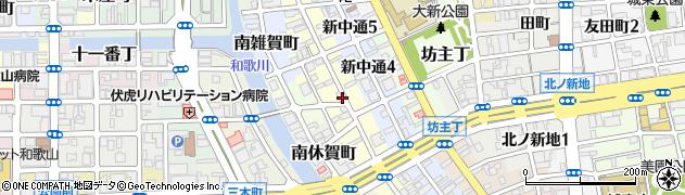 和歌山県和歌山市新通周辺の地図