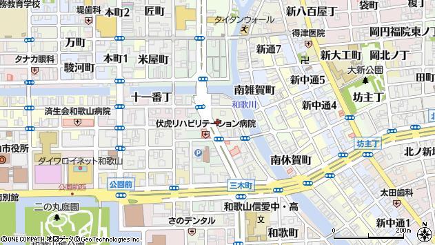 〒640-8107 和歌山県和歌山市三木町堀詰の地図