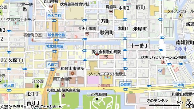〒640-8158 和歌山県和歌山市十二番丁の地図