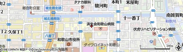 和歌山県和歌山市十二番丁周辺の地図