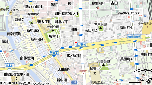 〒640-8353 和歌山県和歌山市北ノ新地榎丁の地図