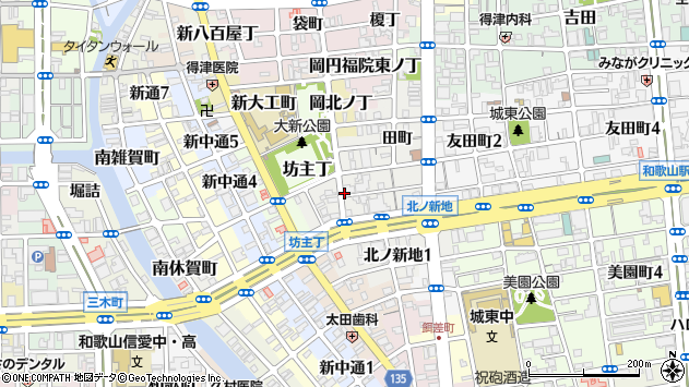 〒640-8358 和歌山県和歌山市北ノ新地下六軒丁の地図