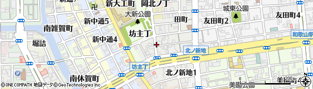 和歌山県和歌山市北ノ新地(下六軒丁)周辺の地図
