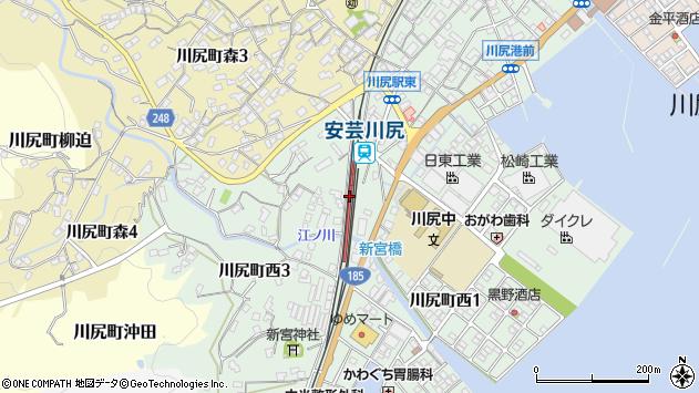 安芸川尻駅(広島県呉市) 駅・路線図から地図を検索