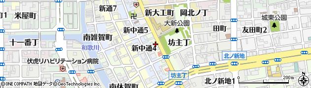 和歌山県和歌山市数寄屋丁周辺の地図