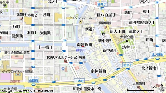 〒640-8102 和歌山県和歌山市南雑賀町の地図