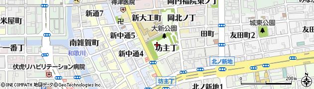 和歌山県和歌山市坊主丁周辺の地図