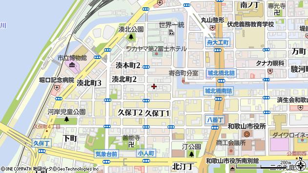 〒640-8223 和歌山県和歌山市湊北町の地図