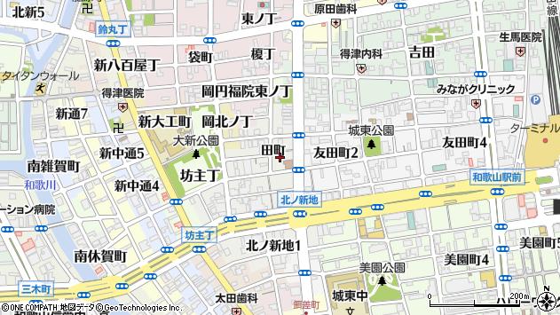 〒640-8359 和歌山県和歌山市北ノ新地田町の地図