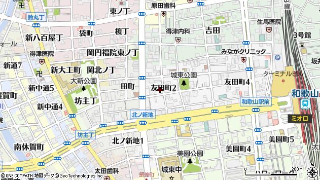 〒640-8342 和歌山県和歌山市友田町の地図