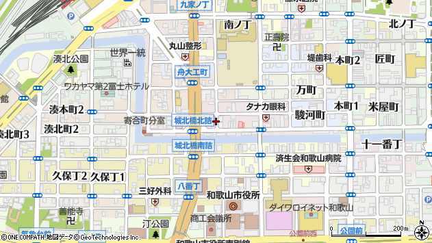 〒640-8045 和歌山県和歌山市卜半町の地図