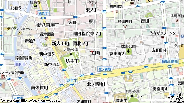 〒640-8350 和歌山県和歌山市北ノ新地分銅丁の地図