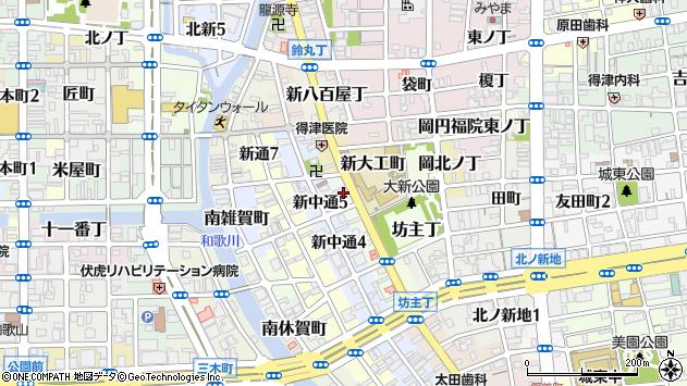 〒640-8373 和歌山県和歌山市木挽丁の地図